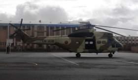 الجيش يمنح مدينة تيزنيت طائرة هيلوكوبتر