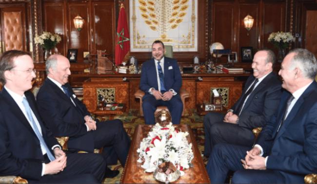 الملك محمد السادس يستقبل لوران فابيوس بالرباط