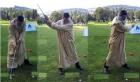 """الشيخ الفيزازي يثير فضول معجبيه بصورة وهو يلعب الغولف ب """"الجلابة"""""""