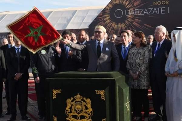 الملك يدشن رسميا المرحلة الأولى لأكبر مشروع لإنتاج الطاقة الشمسية في العالم