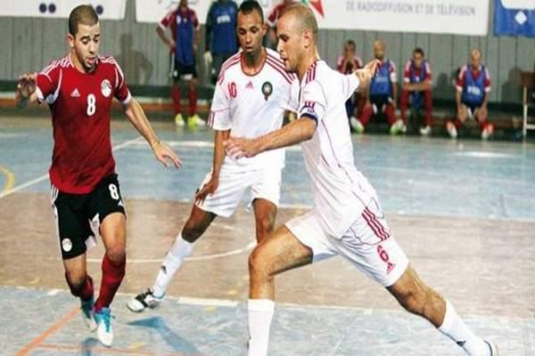 """كأس إفريقيا.. """"أسود القاعة"""" ينهزمون أمام المنتخب المصري بثلاثة أهداف لاثنين"""