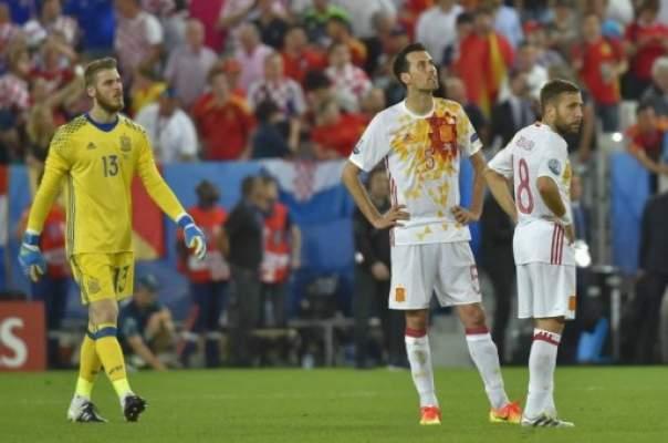 كرواتيا تفوز بالصدارة بعد التغلب على إسبانيا حاملة اللقب