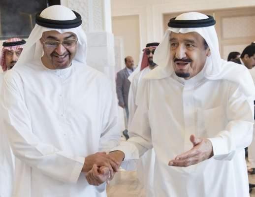 العاهل السعودي يستقبل ولي عهد أبوظبي في طنجة