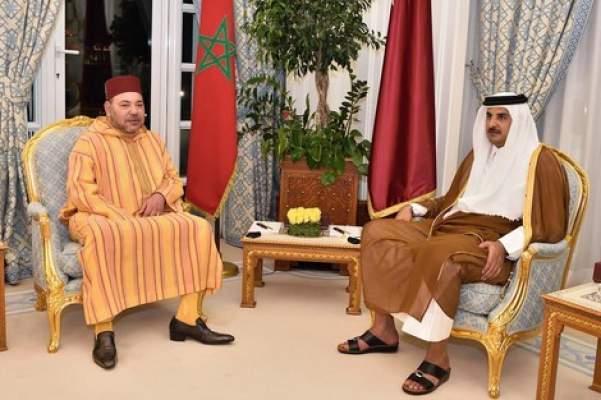 الملك محمد السادس يجري اتصالا هاتفيا مع أمير قطر