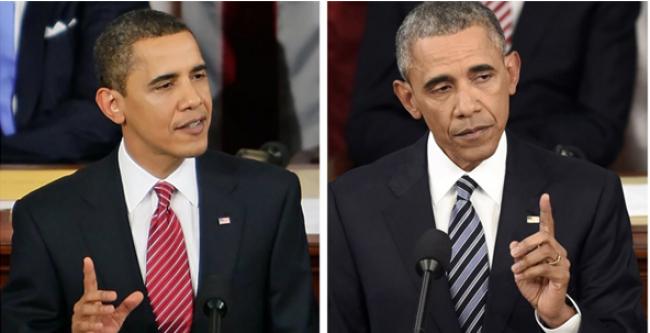 فيديو: تغير ملامح باراك أوباما بين 2008 و2016