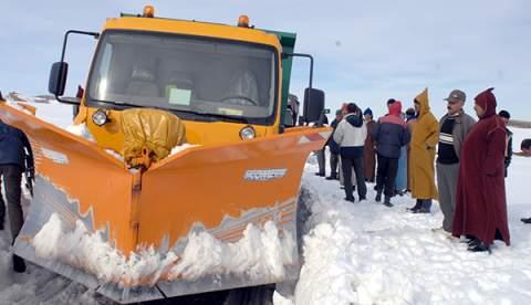 كميات التساقطات الثلجية المسجلة في مختلف أقاليم المملكة