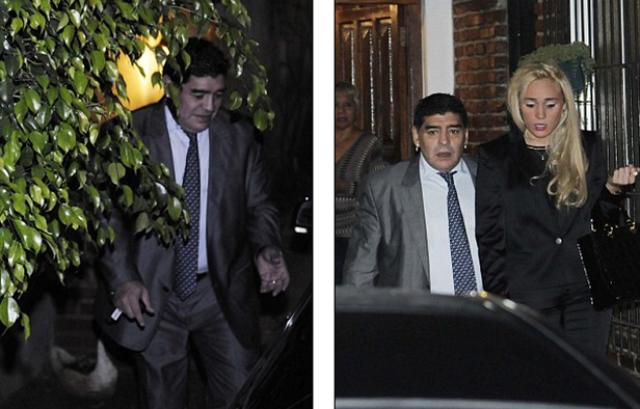اعتقال النجم مارادونا بعد اعتدائه بالضرب على صديقته