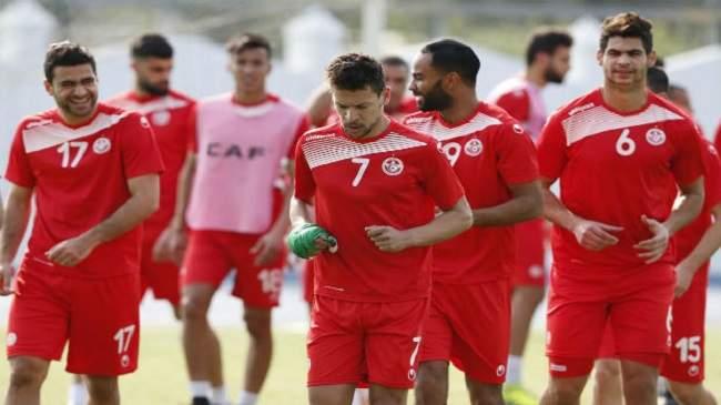 المنتخب التونسي يجري آخر حصة تدريبية قبل مواجهة الأسود بمراكش