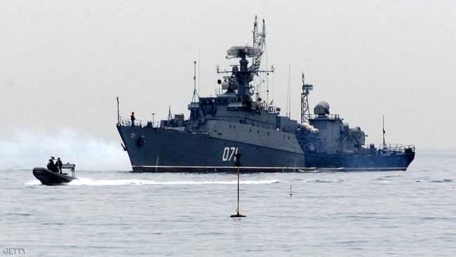 فرقاطة روسية ضخمة تصل إلى البحر المتوسط بعد الضربة الأمريكية