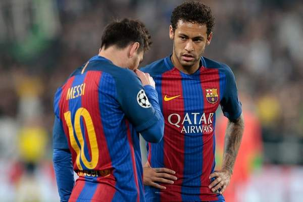 """بعد الهزيمة """"المذلة"""" أمام يوفنتوس.. ميسي ونيمار يرفضان المشاركة في تدريبات برشلونة"""