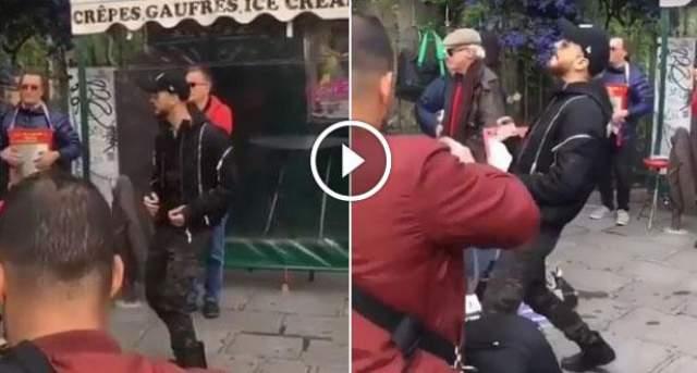 فيديو: سعد المجرد يرقص ابتهاجا في شوارع باريس بعد إطلاق سراحه