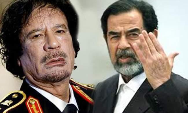 تفاصيل محاولة القذافي تهريب صدام بعد تقديم رشوة للأمريكيين