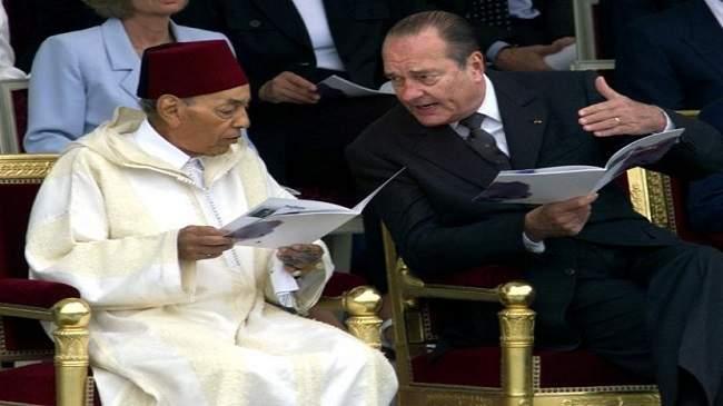 فيديو: الرئيس الفرنسي شيراك سرق ملعقة الحسن الثاني.. فمارس معه الملك دور الساحر