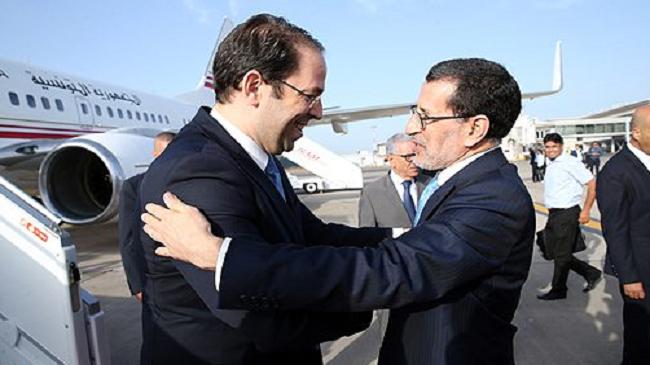 رئيس الحكومة التونسية يوسف الشاهد يحل بالمغرب