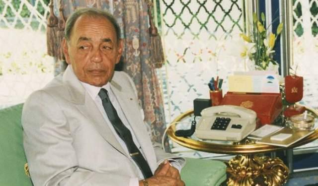 صورة عملاقة للملك الراحل الحسن الثاني داخل مقر الاتحاد الإفريقي