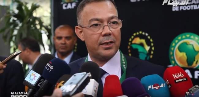 """لقجع لــ""""الأيام24"""": نحن البلد الوحيد الذي يتابع فيه المشاهدون مباريات منتخبهم بدون تشفير"""