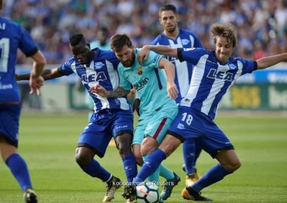 فيديو: ميسي يقود برشلونة للفوز على ديبورتيفو ألافيس