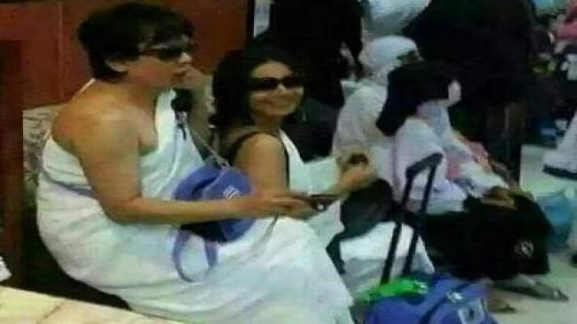 مثير .. امراتان بملابس الإحرام تشعلان فيسبوك (صور)