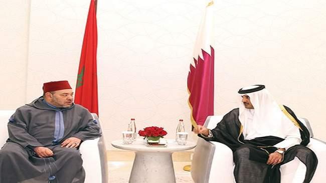 الملك محمد السادس يعقد جولة ثانية من المباحثات مع أمير قطر