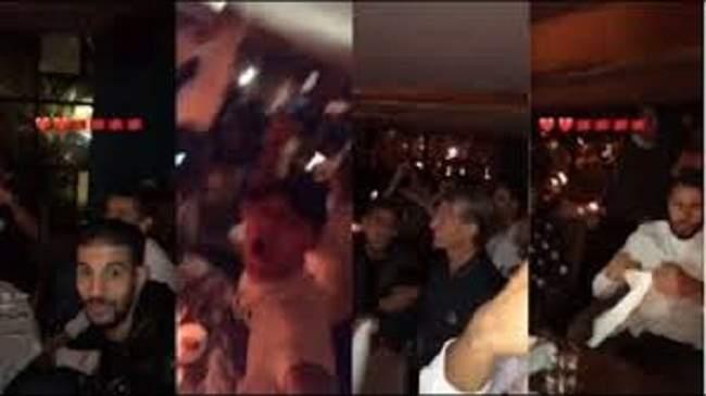 بهذه الطريقة احتفل أسود الأطلس بالتأهل في أحد الفنادق بالبيضاء (فيديو)