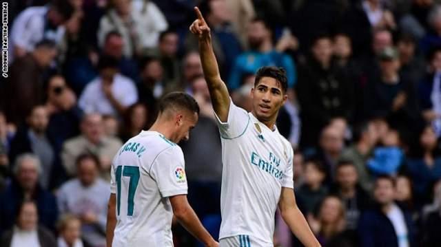 حكيمي يسجل أول هدف مع ريال مدريد وينفرد بانجاز تاريخي