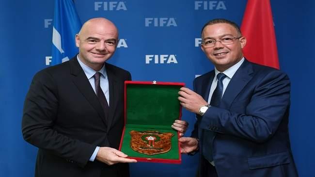 """في واقعة غريبة.. رئيس الـ""""فيفا"""" يهدد بإلغاء ترشح المغرب لاستضافة مونديال 2026"""