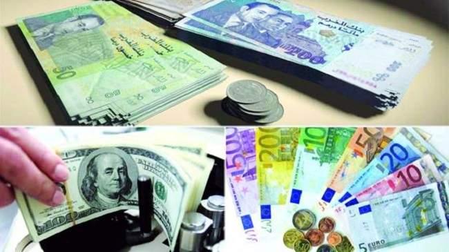 بعد شهر من التعويم..ارتفاع الدرهم مقابل الأورو وانخفاض مقابل الدولار