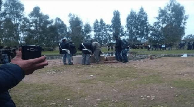 صادم بالصورة: عصابات الكنز تذبح رجلا وتقدمه قربانا للجن ثم تتخلص من جثته في بئر