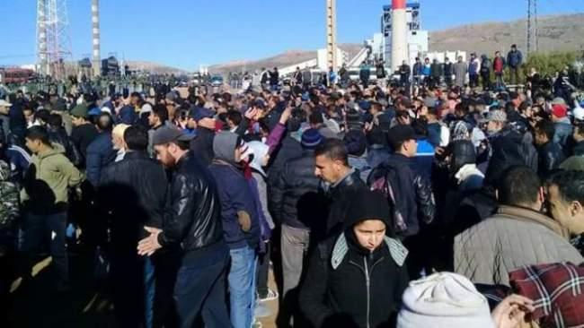 وزارة الداخلية ترد على احتجاجات جرادة