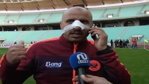 الاعتداء على مدرب نهضة بركان وكسر أنفه في تونس (+فيديو)