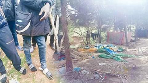 مداهمة أكبر مخيم للمهاجرين غير الشرعين في الناظور وإحراقه