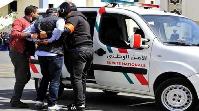 الأمن يوقف أخطر شخصين كانا يخططان لأعمال إجرامية