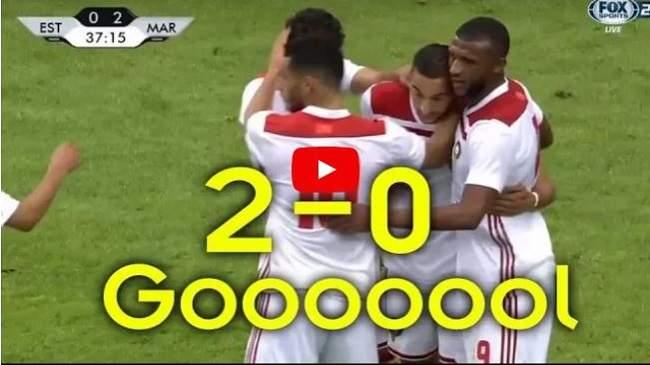 شاهد..بهدوء الكبار زياش يسجل الهدف الثاني للأسود