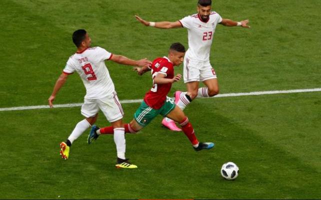 مونديال 2018 .المغرب أمام مهمة مستحيلة بعد إهدار الفوز أمام إيران