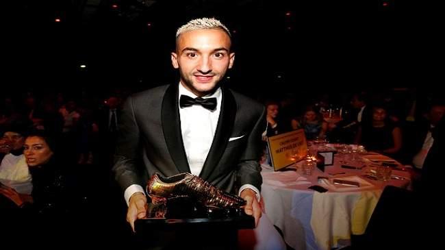 حكيم زياش يتوج بجائزة أفضل لاعب في هولندا