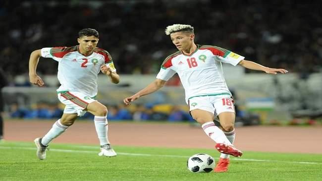 برشلونة الاسباني يراقب نجم المنتخب المغربي