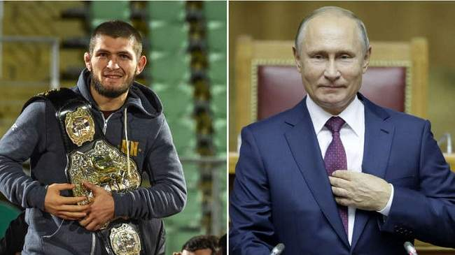 مثير.. لحظة استقبال بوتين للمقاتل حبيب نورمحمدوف