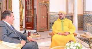 الملك محمد السادس يستقبل عزيز أخنوش بمراكش
