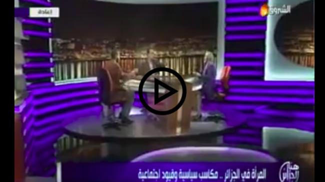 فيديو: شاهد .. عراك في الاستوديو مع سلفي يدافع على ارتداء النقاب في الجزائر