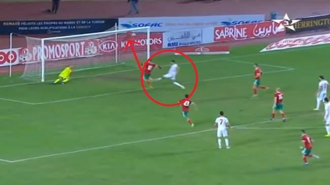 تسديدة صاروخية من بنعطية ومتابعة من النصيري..شاهد هدف الانتصار المغربي على تونس