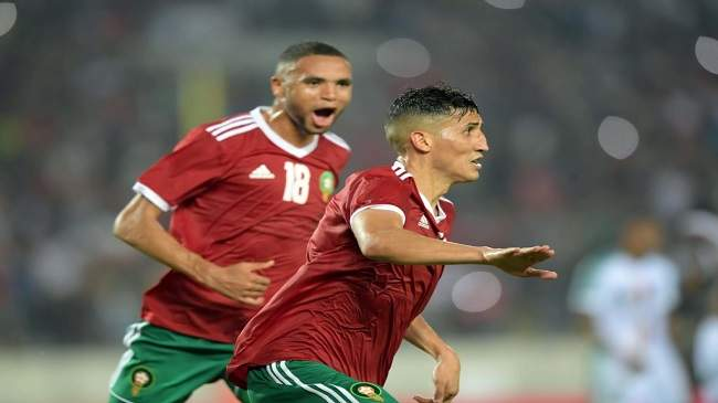 """""""الأسود"""" يحسمون الديربي المغاربي أمام تونس بهدف النصيري"""
