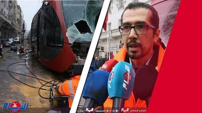 شاهد.. خسائر بملايين الدراهم و أعطاب جسيمة في حادثة اصطدام طرمواي مع شاحنة بالبيضاء
