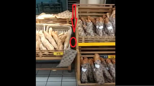 فيديو فضيحة.. جرد كبير (طوبّة) يتجول بين رفوف الخبز بمركز تسوق شهير بالمغرب
