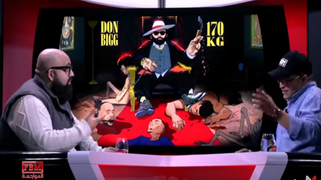 """بالفيديو..أول ظهور تلفزيوني لــ""""دون بيغ"""" بعد الأغنية التي فجرت حرب """"الكلاشات"""" بالمغرب"""