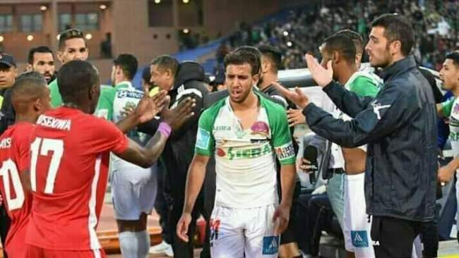 فيديو.. الشجار العنيف بين لاعبي الرجاء وبطل ناميبيا في ملعب مراكش