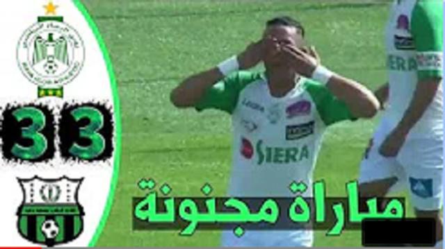 من أكثر المباريات إثارة هذا الموسم..إليك جميع أهداف مواجهة الرجاء وبرشيد