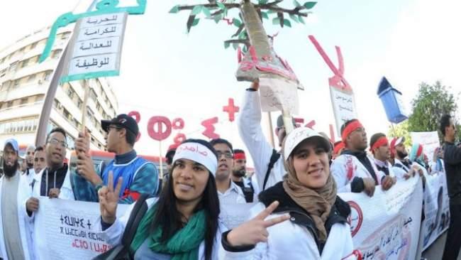 الحكومة ترد على احتجاجات الاساتذة المتعاقدين