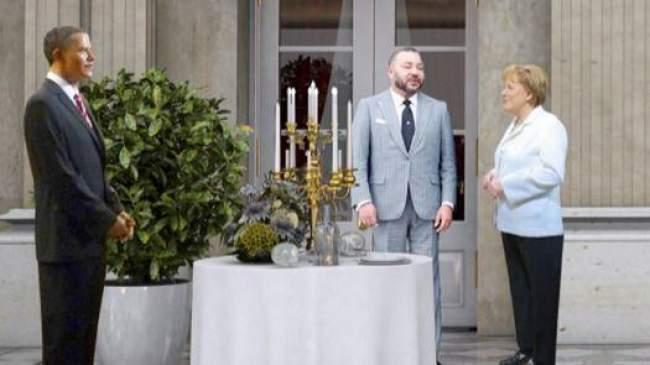الملك محمد السادس ينضم إلى الملكة إليزابيث وأنجيلا ميركل في فرنسا