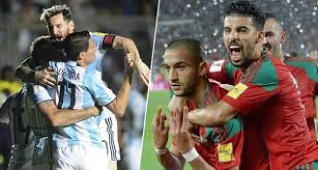 موعد مباراة المغرب والأرجنتين والقنوات الناقلة لها