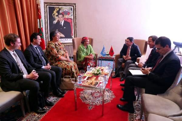 بعد جنيف2.. بوريطة يجري مباحثات بمراكش مع نائبة الأمين العام للأمم المتحدة